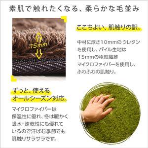 ふわふわシャギー キッチンマット 【Mサイズ 50×210cm/グリーン】 洗える オールシーズン対応 『Enohte-エノーテ-』