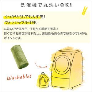 ふわふわシャギー キッチンマット 【Sサイズ 50×180cm/グリーン】 洗える オールシーズン対応 『Enohte-エノーテ-』