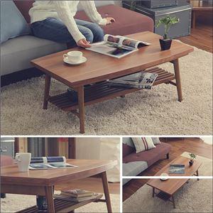 こたつテーブル【単品】長方形 おしゃれなウォールナット使用折りたたみ式 日本製完成品|ZETA-ゼタ- テーブルカラー:ウォールナット