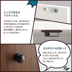 マルチカラーボックス3D【NEST.】3ドアタイプ オーク