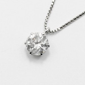 プラチナ1.7ct一粒石天然ダイヤモンドペンダント