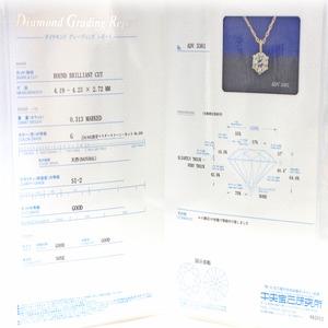 18金 イエローゴールド 0.3ct ダイヤモンド ペンダント Gカラー SI-2 f04