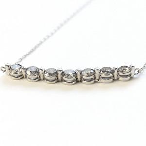 プラチナ1ctダイヤモンド7ストーンラインペンダント h03