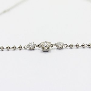 プラチナ0.45ctダイヤモンド3ストーンラインペンダント