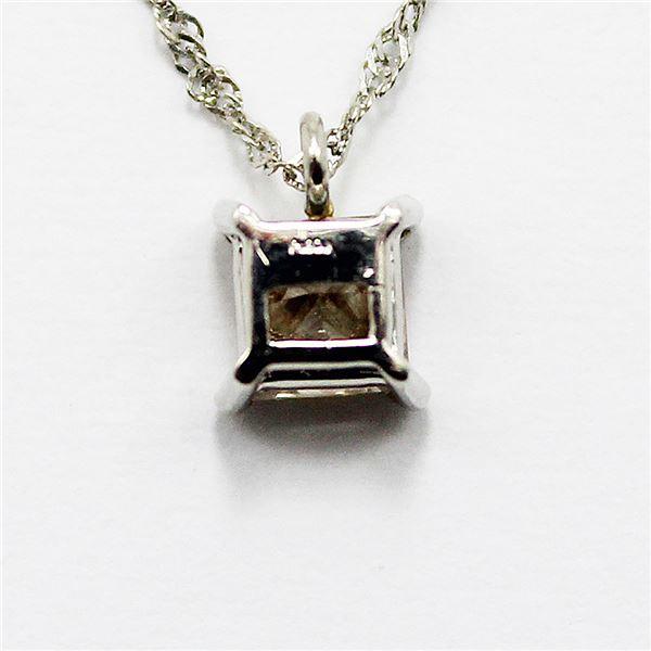 プラチナ0.4ctプリンセスカットブラウンダイヤモンドペンダント/ネックレスのポイント2