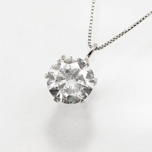 プラチナ0.8ctダイヤモンド一粒石ペンダント