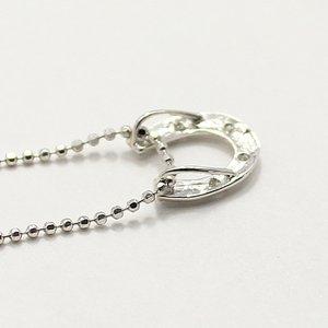 天然ダイヤモンド 6石ストーン ホースシュー 馬蹄 デザイン ペンダント ネックレス h03