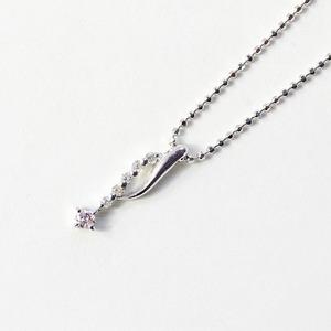ピンクダイヤモンドペンダント/ネックレス h01