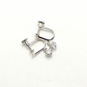 ダイヤリング 指輪 0.4ct スゥイング スクリュー式 イヤリング h01