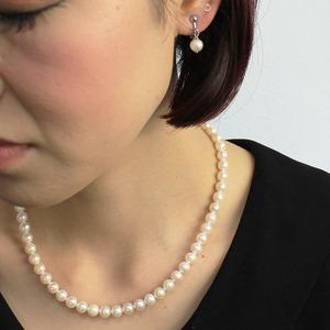 アコヤ本真珠 6.5-7.00mm珠 ネックレス&イヤリング