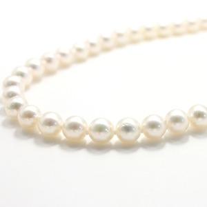 【訳あり・在庫処分】アコヤ本真珠8.00mm珠ネックレス