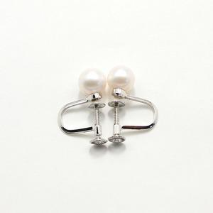 7mm珠 あこや本真珠 イヤリング h02