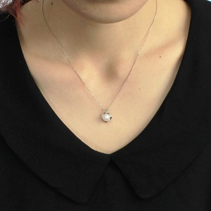 7mm珠 あこや本真珠 ダイヤモンドペンダント