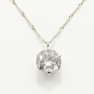 純プラチナ0.9ctダイヤモンドペンダント/ネックレス スクリューチェーン h02