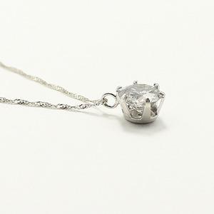 純プラチナ0.9ctダイヤモンドペンダント/ネックレス スクリューチェーン h03