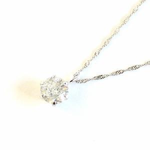 プラチナ9000.5ctダイヤモンドペンダント/ネックレス