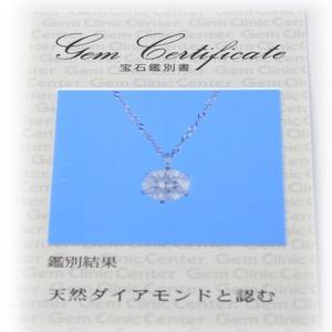 プラチナ900 0.5ct ダイヤモンドペンダント/ネックレス f04