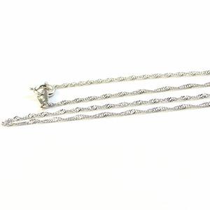 造幣局検定刻印入り 純プラチナ スクリューチェーン  ネックレス 42cm 2.0g h01
