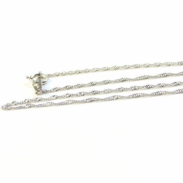 造幣局検定刻印入り 純プラチナ スクリューチェーン  ネックレス 42cm 2.0gf00