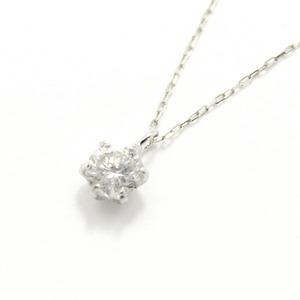 造幣局刻印 純プラチナ 0.3ct ダイヤモンドペンダント/ネックレス アズキチェーン h01