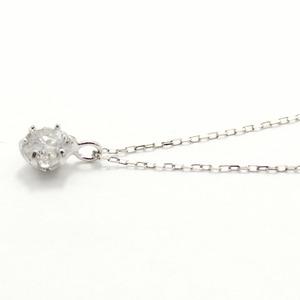 造幣局刻印 純プラチナ 0.3ct ダイヤモンドペンダント/ネックレス アズキチェーン h02