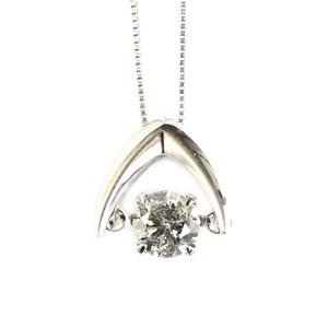 プラチナ900 天然 ダイヤモンド 0.3c ダンシングペンダント h01