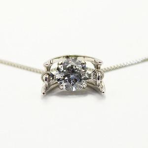 プラチナ900 天然 ダイヤモンド 0.3c ダンシングペンダント h03