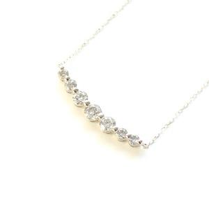 プラチナ 0.5ct ダイヤモンド 7ストーン ライン ペンダント