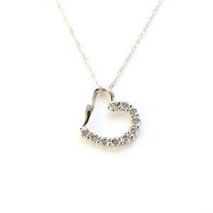 プラチナ0.4ctハートダイヤモンドペンダント/ネックレス