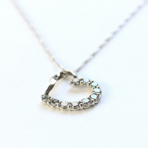 プラチナ 0.4ct ハート ダイヤモンドペンダント/ネックレス  h02