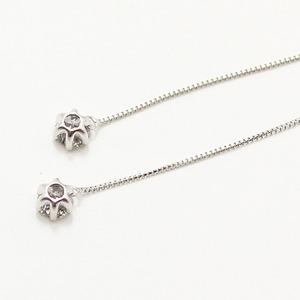 プラチナ0.3ctダイヤモンド ショート アメリカンチェーンピアス h03