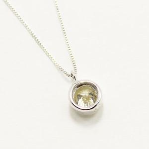 10金 ホワイトゴールド 0.3ct イエローダイヤモンド フクリン ペンダント h02