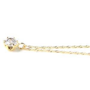 18金 イエローゴールド 0.3ct ダイヤモンド ペンダント  h02