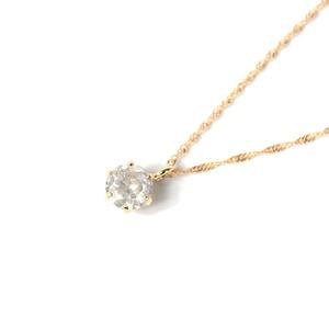 18金 ピンクゴールド 0.3ct ダイヤモンド ペンダント