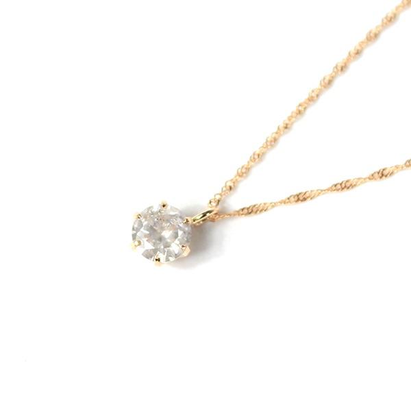 18金 ピンクゴールド 0.3ct ダイヤモンド ペンダント f00