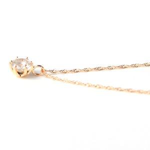 18金 ピンクゴールド 0.3ct ダイヤモンド ペンダント  h02