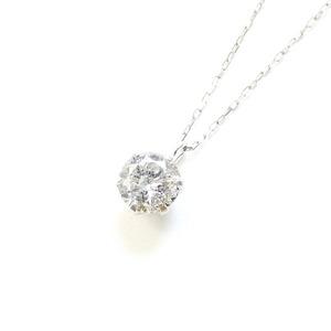 造幣局刻印純プラチナ0.5ctダイヤモンドペンダント