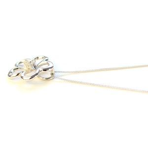 ダイヤモンド サクラ ホワイトゴールド ネックレス ペンダント