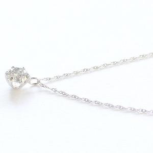 プラチナ0.45ct一粒石ダイヤモンドペンダント