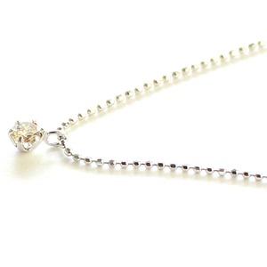 18金 ホワイトゴールド ダイヤモンド 0.15ct ネックレス