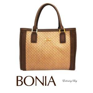 BONIA(ボニア)レザーバッグ/本革/牛革/シンプル/レディース【boniabag-124】【081133-001】ブラウン - 拡大画像