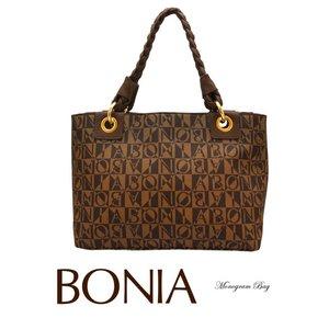 BONIA(ボニア)モノグラムバッグ/本革/牛革/シンプル/レディース【boniabag-126】【081135-001-15】 - 拡大画像