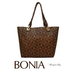 BONIA(ボニア)モノグラムバッグ/本革/牛革/シンプル/レディース【boniabag-127】【081135-004-15】 - 拡大画像