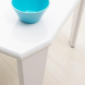 リッチテーブル(75) (ホワイト/白)  幅75cm 机/リビングテーブル/ローテーブル/折りたたみ/北欧風/鏡面加工/シンプル/完成品/NK-755 の画像