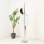 スリムポールスタンド(シルバー/銀) ポールハンガー/スチール製/高さ177cm/アイアン/帽子掛け/コートハンガー/収納/スリム/コンパクト/モダン/高級感/NK-510 の画像