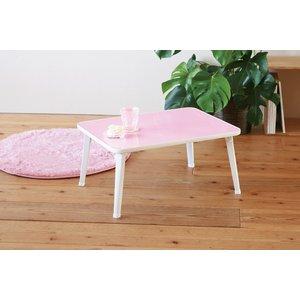 ペイントテーブル(パステルピンク) 幅60cm 机/折りたたみテーブル/ローテーブル/子供/キッズ/パステルカラー/お絵描きテーブル/完成品/NK-6040 の画像