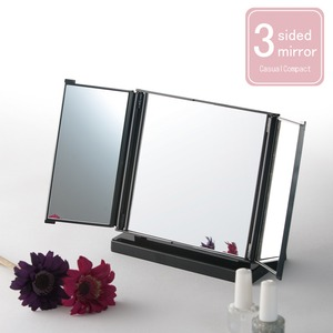 カジュアルコンパクトミラー(折りたたみ三面鏡/卓...の商品画像
