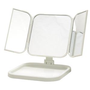 コンパクト三面鏡(ホワイト/白) 折りたたみ卓...の紹介画像2