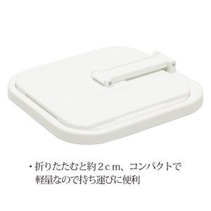 コンパクト三面鏡(ホワイト/白) 折りたたみ卓...の紹介画像3