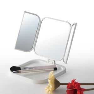 コンパクト三面鏡(ホワイト/白) 折りたたみ卓...の紹介画像4
